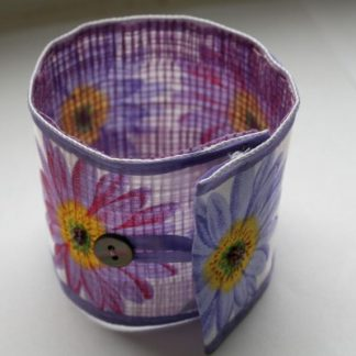 Flower Cuff Original Textile Jewellery
