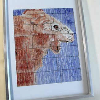 Lion Original Textile Wall Art