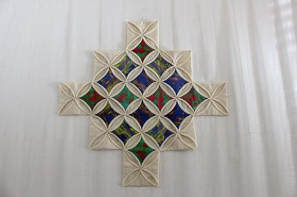 16 Patch Cathedral Window Quilting Kit