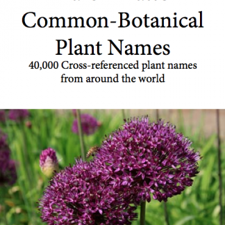 Common-Botanical Plant Names eBook