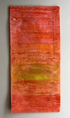 Sunset Original Textile Art