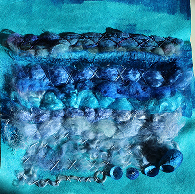 Waves Rush To The Shore Original Textile Art