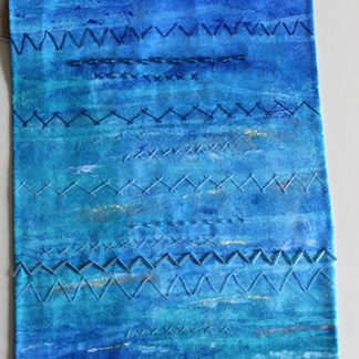 Deep Blue Sea Original Textile Art