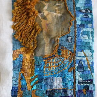 Egyptian Princess Embroidered Portrait Textile Art