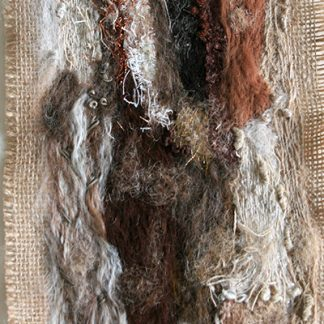Tree Bark Two Original Textile Art Wall Hanging