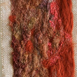 Tree Bark One Original Textile Art Wall Hanging