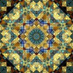 tiled fabric Karen Platt