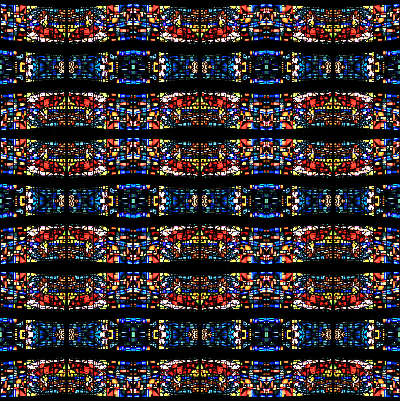 Stained glass quilting fabric