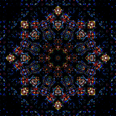 stained glass quilting kaleidoscope fabric