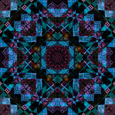 tile quilters fabric design