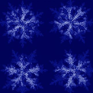 snowflake cloth fabric