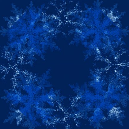 cotton quilting fabric snowflake