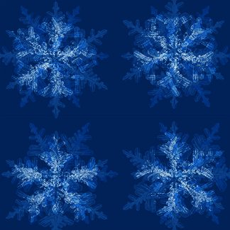 silk or cotton snowflake fabric