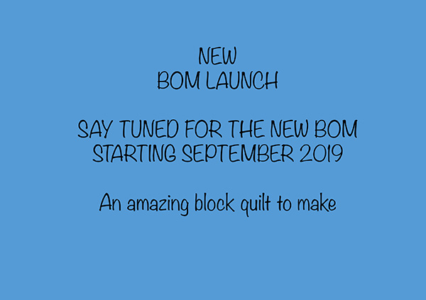 New quilting launches