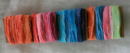 hand dyed cotton scrim