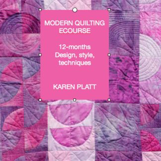 Day 30 quilting ecourse