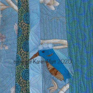 Kingfisher art quilt