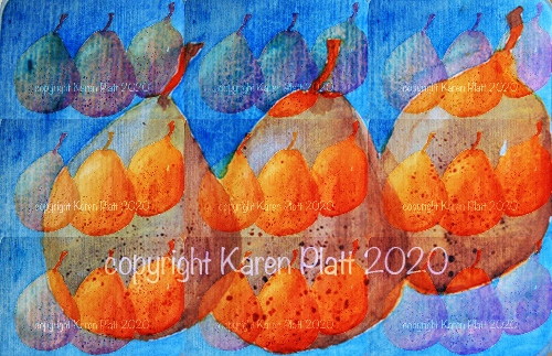 pear watercolour painting