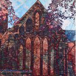 Church art quilt for sale
