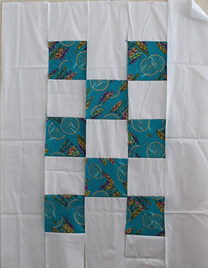 cutting, piecing and quilting