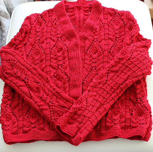 Hand knitting knitwear design