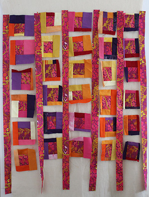 quilt on design wall