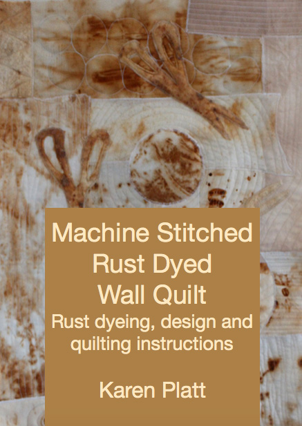 Machine Stitched Rust Dyed Quilt