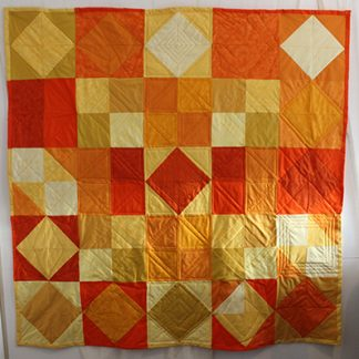 orange and lemons quilt