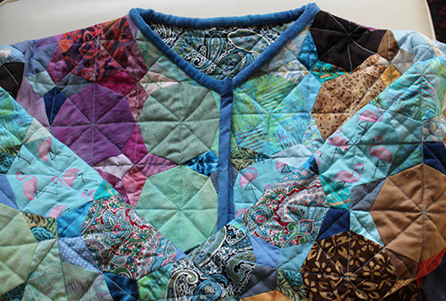 a patchwork quilted jacket