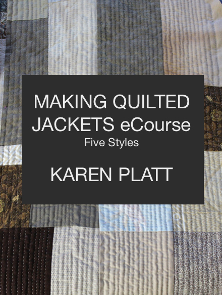 new ecourse Making Quilted Jackets
